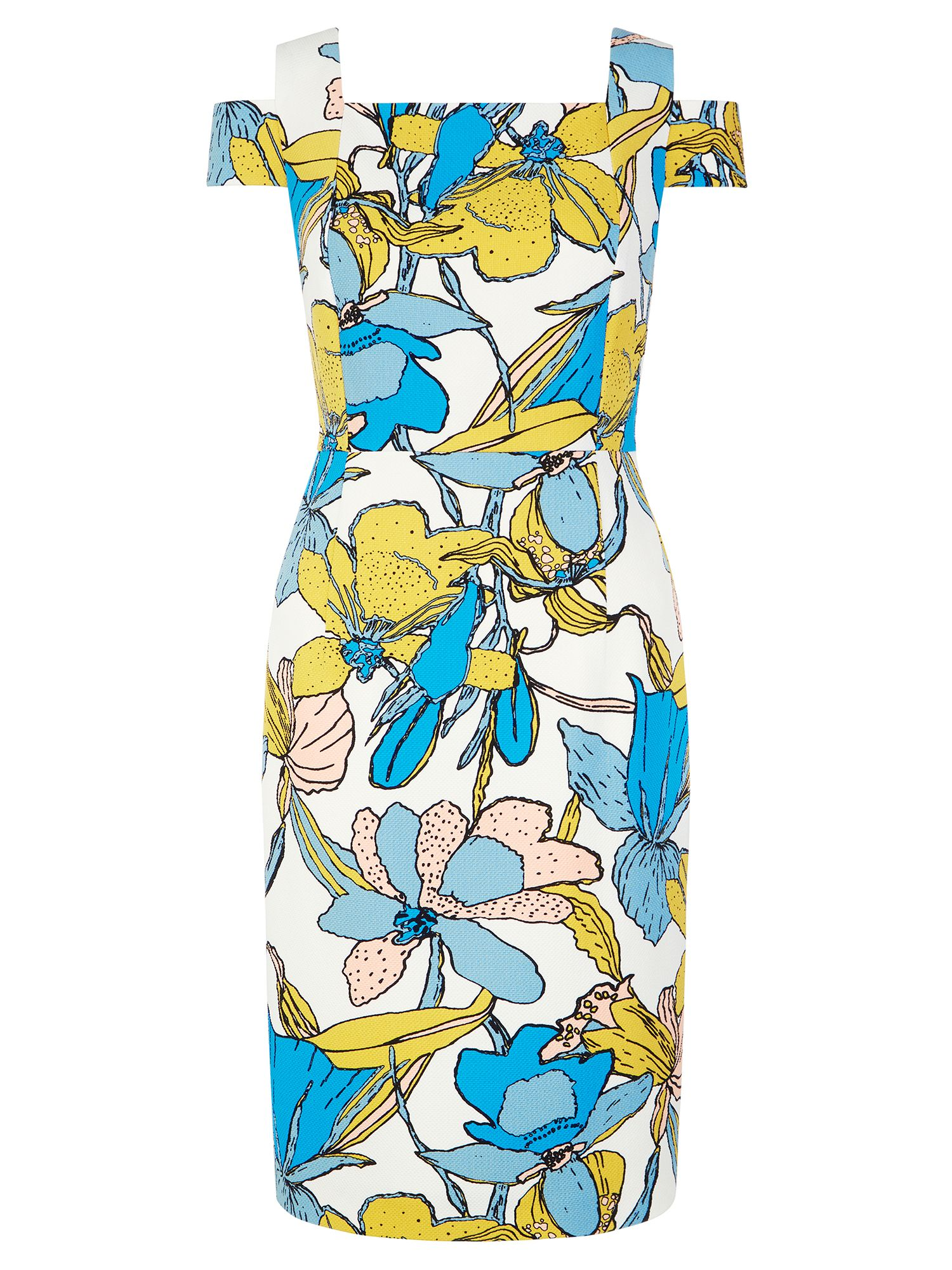 Hobbs Taliah Dress, Multi-Coloured