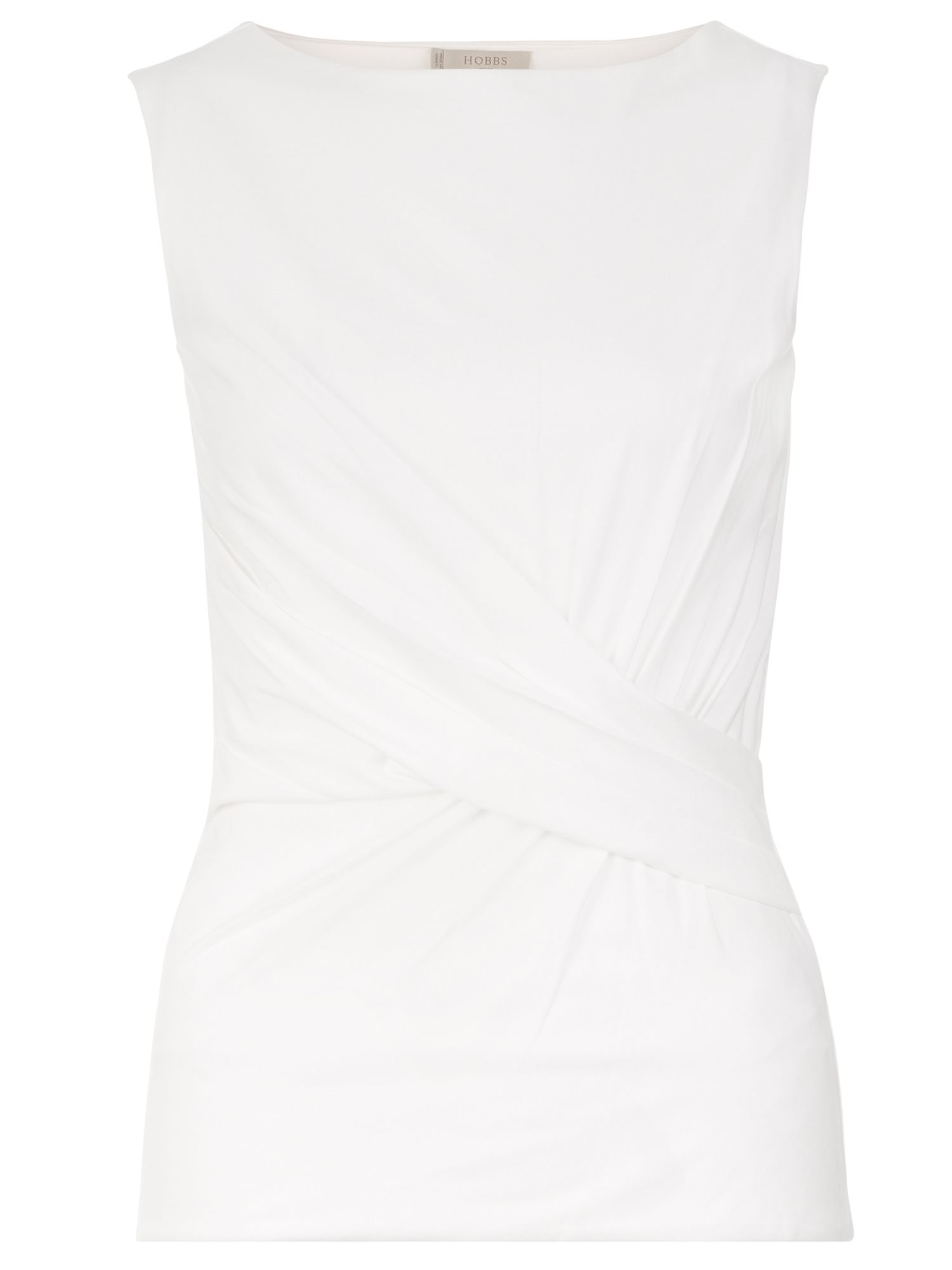 Hobbs Sian Gathered Top, White