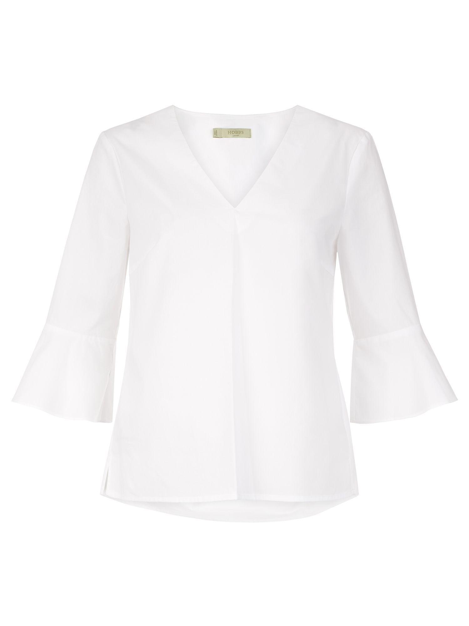 Hobbs Bonnie Fluted Sleeve Top, White