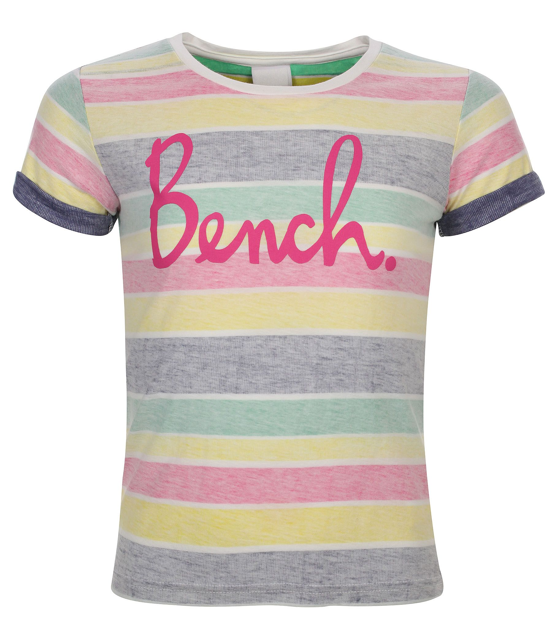 Girls reverse effect striped t-shirt
