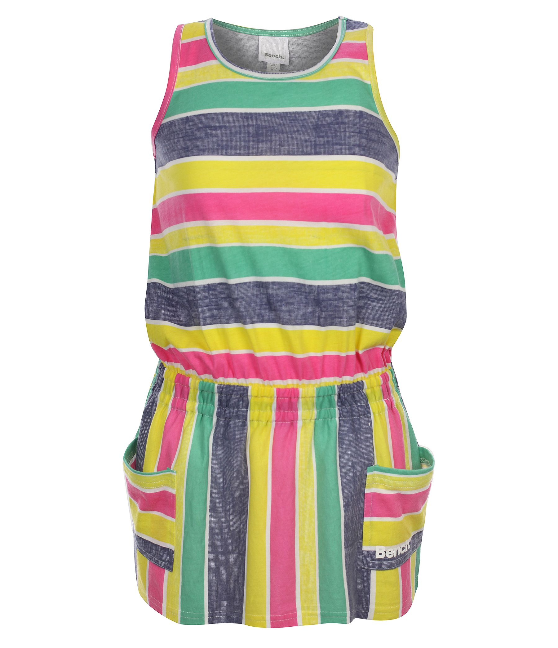 Girls lanarama striped vest dress