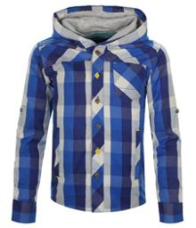 Boy`s messy face long sleeve hood shirt