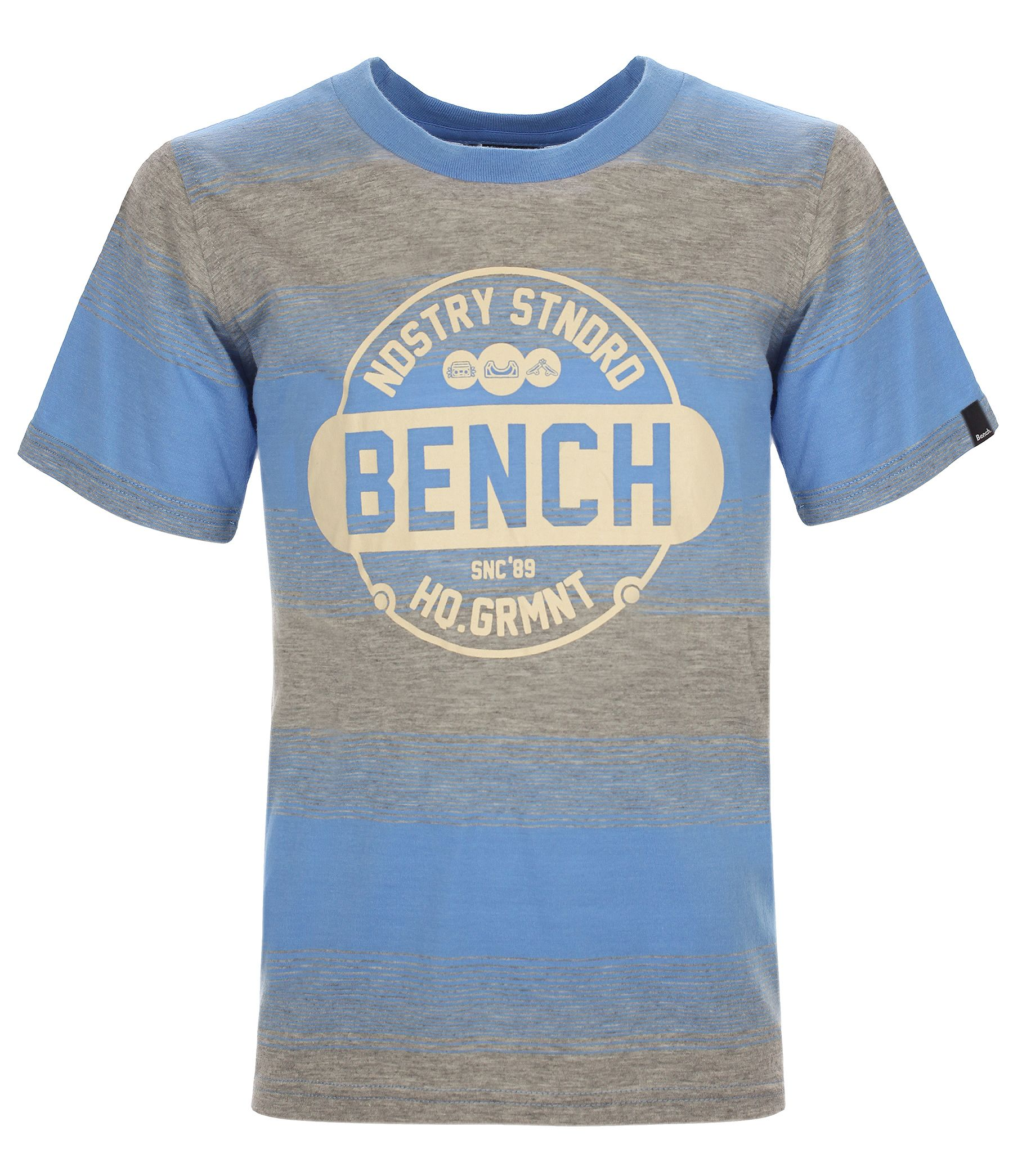 Boys bench skate striped t-shirt