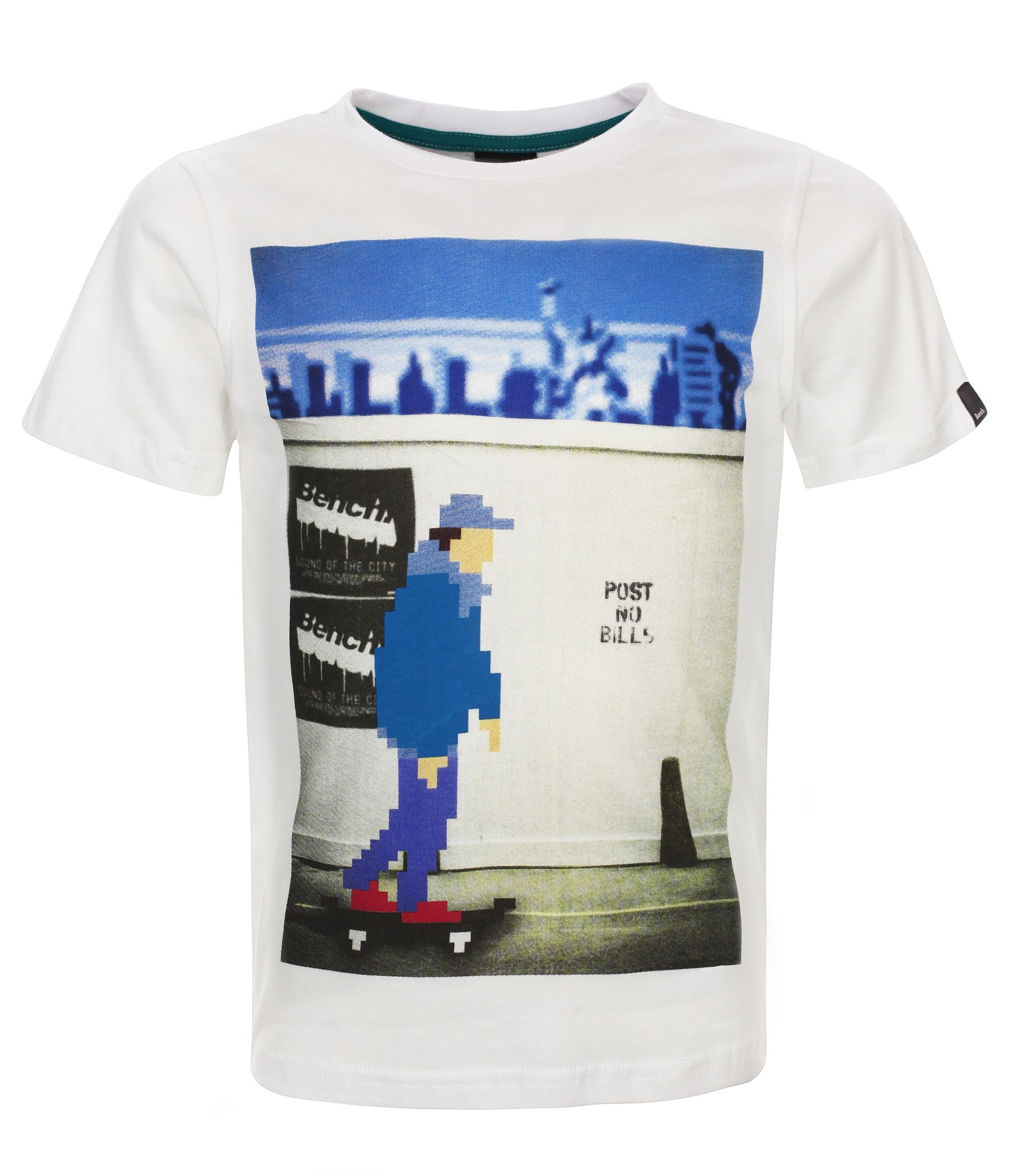 Boys pixel skater graphic print t-shirt