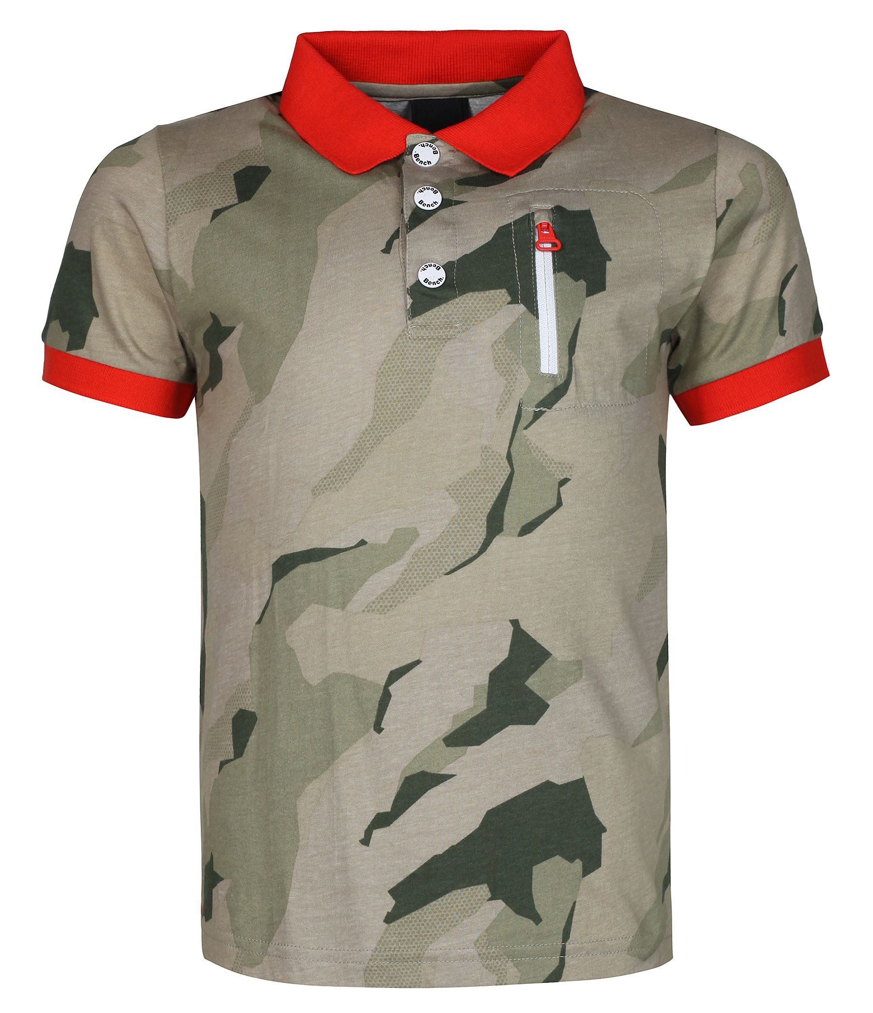 Boys blocker camo print polo shirt