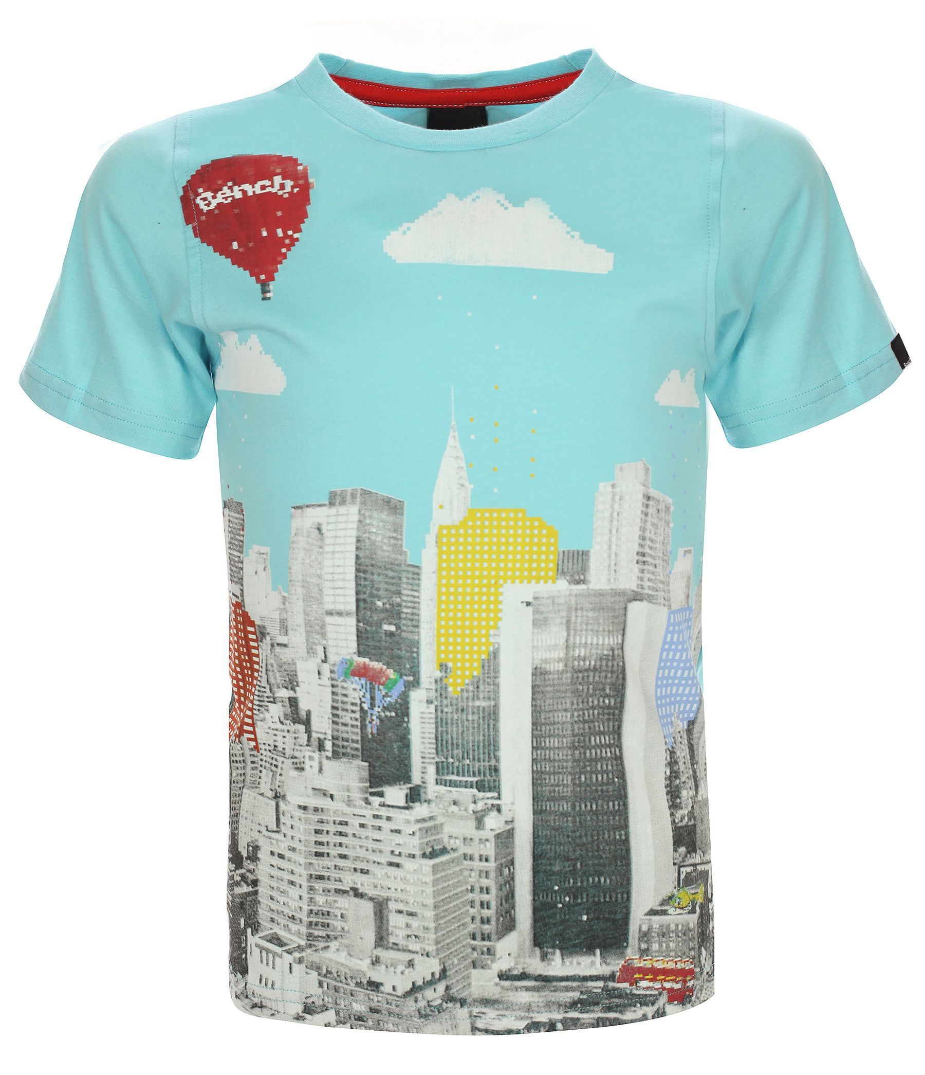 Boys pixel city graphic print t-shirt