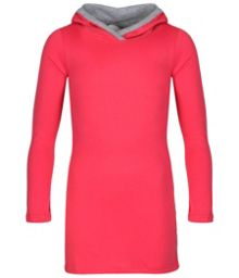 Girls surpriser long sleeve hooded dress
