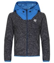 Boys whistle zip funnel neck hoodie