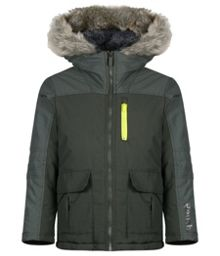 Boys caballerial long parka jacket