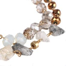 Gaby Neve 2 row mixed stone necklace