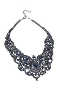 Gaby Blossom lace collar necklace
