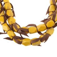 Gaby Mya 2 row bead/leather necklace