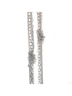 Aria knotted chain necklace