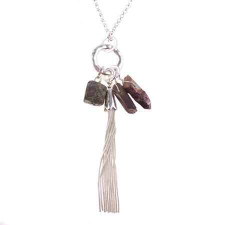 Gaby Barbera stone cluster necklace