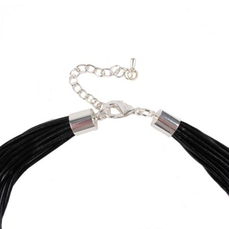 Gaby Ada multi leather cord necklace