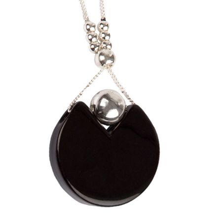 Gaby Sasella cut out disc pendant necklace
