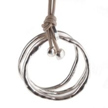 Gaby Rochet triple loop pendant on leather cord