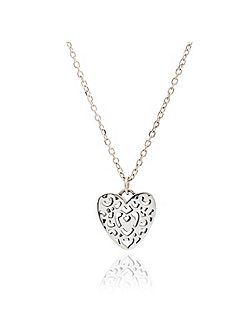 Silver filigree heart pendant