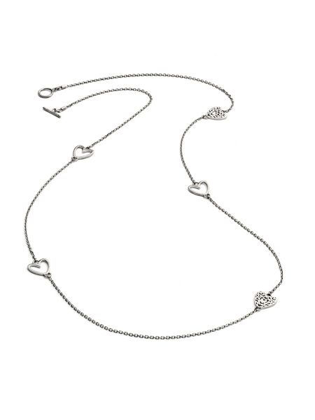 Chavin Silver five charm heart  necklace