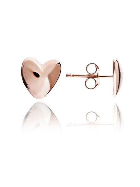 Chavin Rose gold  heart studs