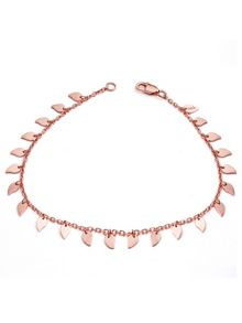 Chavin Rose gold large leaf bracelet