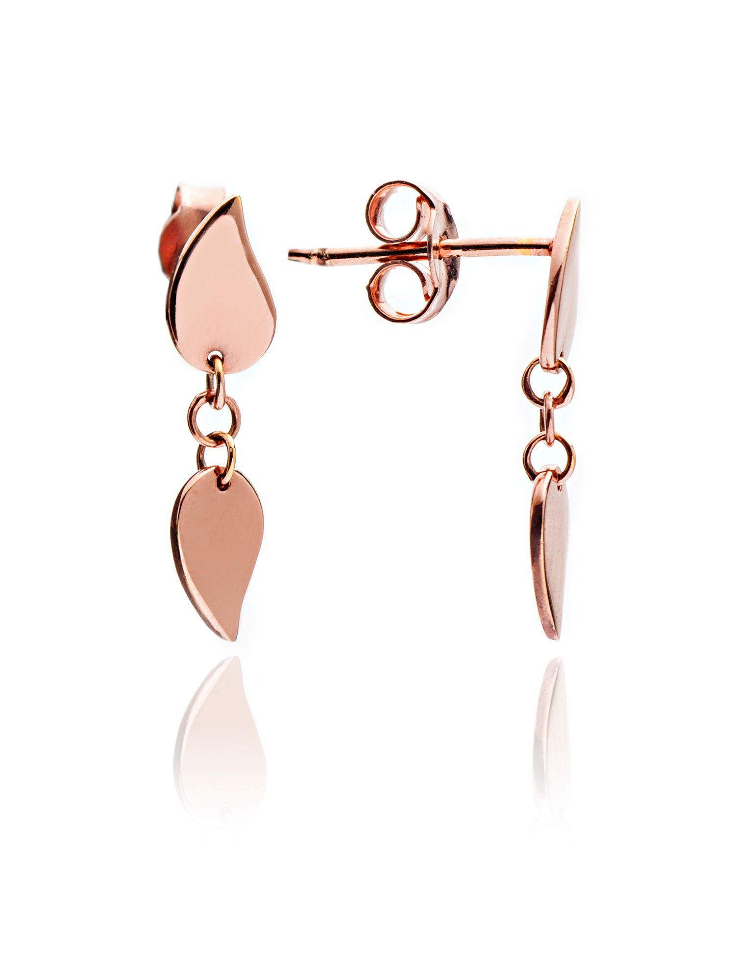 chavin rose gold leaf stud earrings