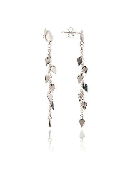 Chavin Silver dangle leaf earrings