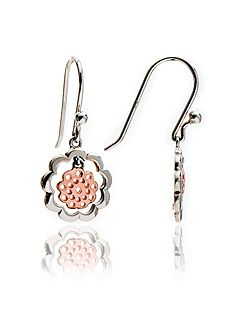 Mixed metal paisley earrings