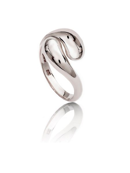 Chavin Silver double paisley ring