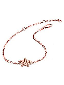 Rose gold filigree star bracelet