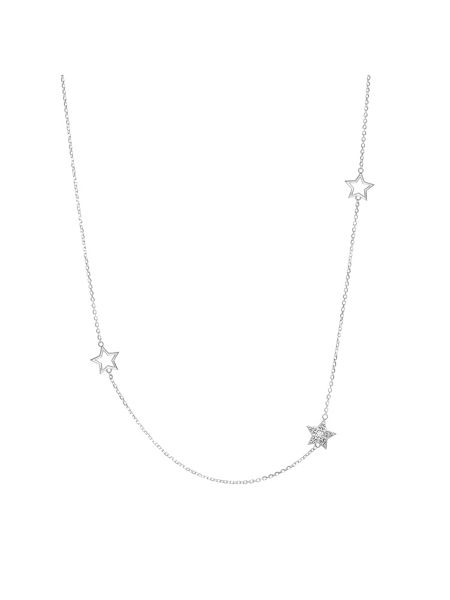 Chavin Silver five charm star necklace