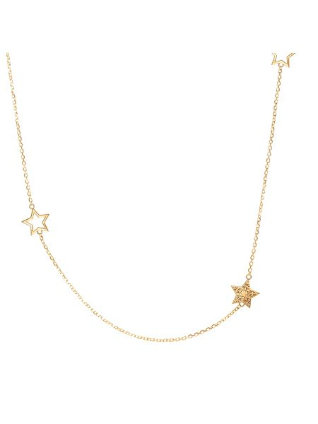 Chavin Rose gold  five charm star necklace
