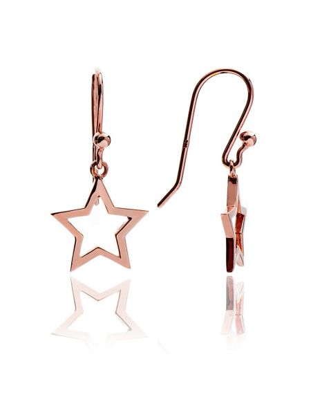 Chavin Rose gold  silhouette star drop earrings