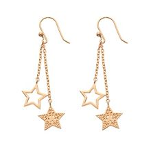 Chavin Rose gold  star dangle earrings