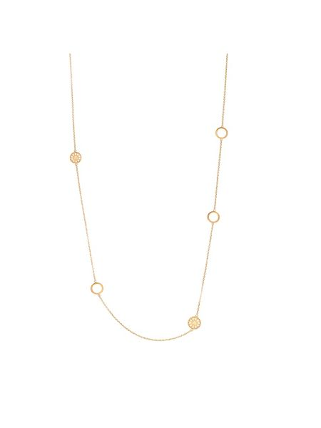 Chavin Rose gold  jaguar five charm necklace