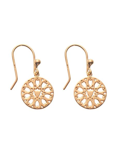 Chavin Rose gold  jaguar filigree drop earrings
