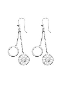 Chavin Silver jaguar filigree dangle earrings