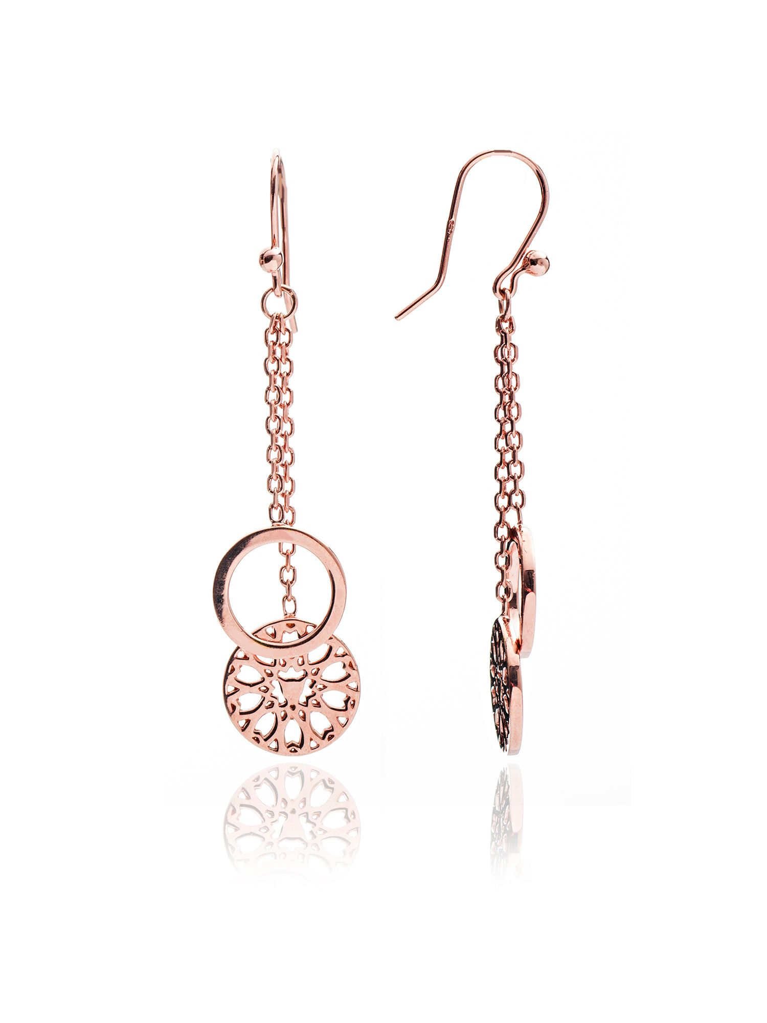 chavin rose gold jaguar filigree earrings