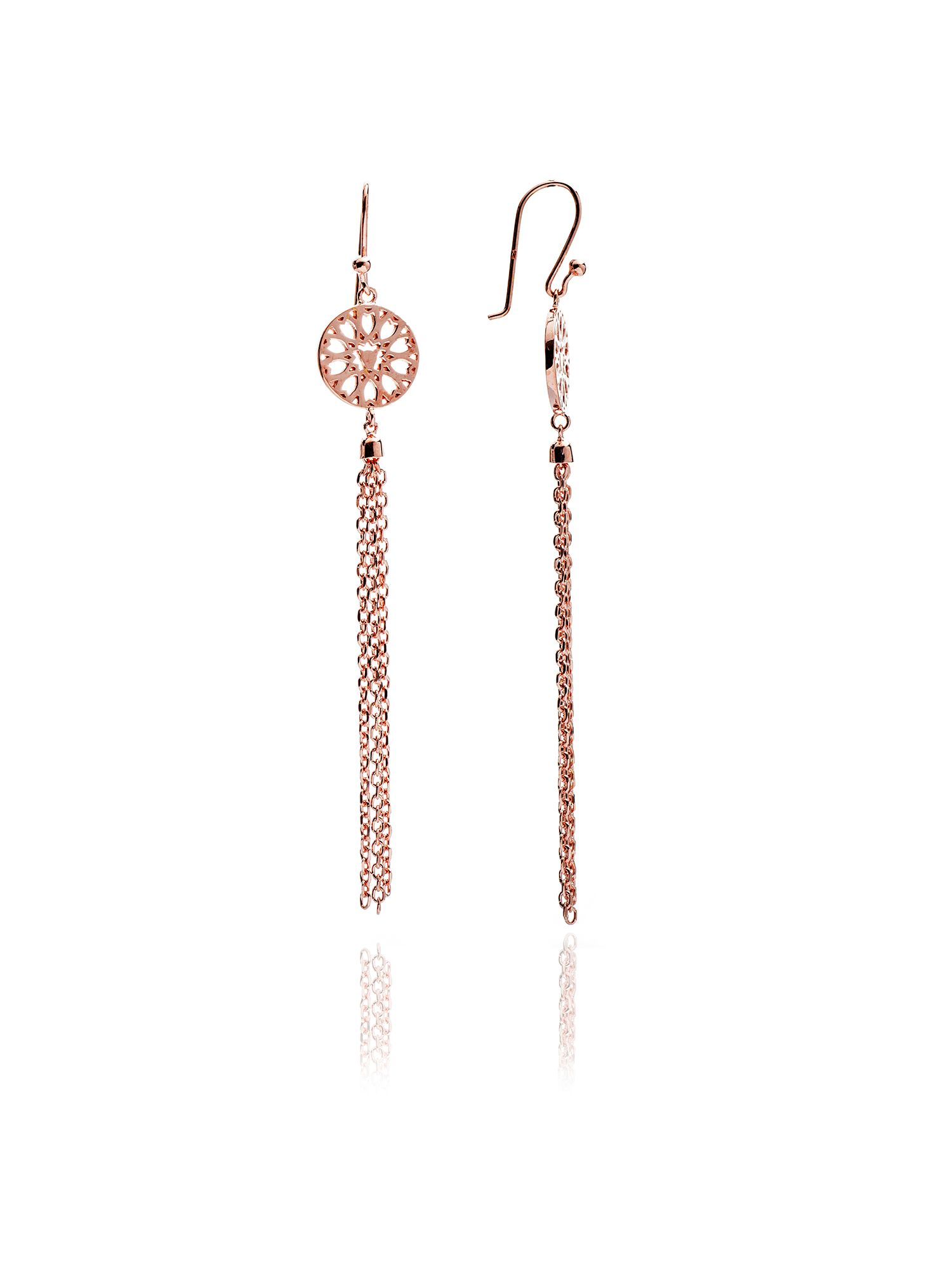 chavin rose gold jaguar filigree tassel earring