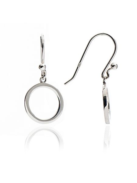 Chavin Silver circular drop earrings