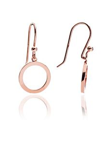 Chavin Rose gold  circular drop earrings