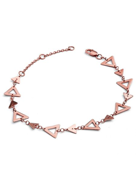Chavin Rose gold triangle hole bracelet