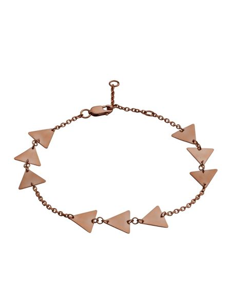 Chavin Rose gold triange three solid bracelet