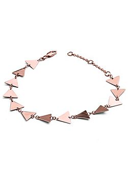 Rose gold full triangle solid bracelet