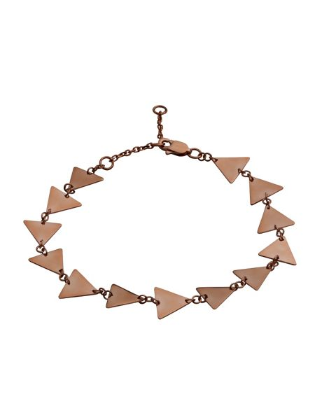Chavin Rose gold full triangle solid bracelet