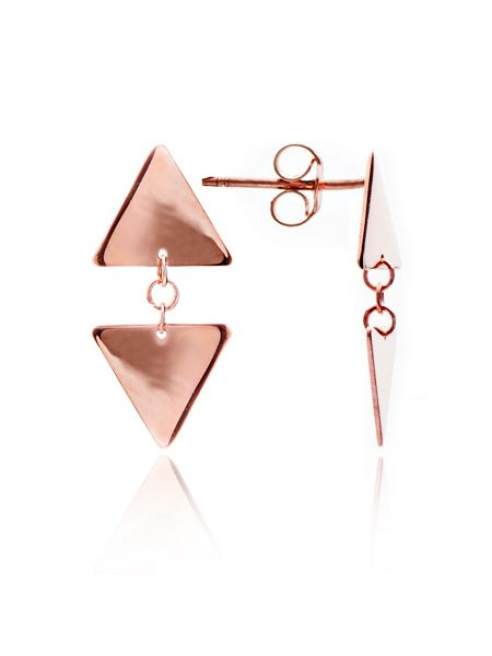 Chavin Rose gold triangle stud earrings