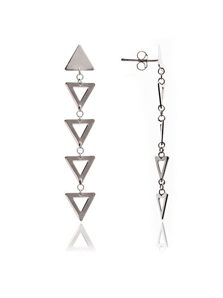 Chavin Silver triangle dangle earrings