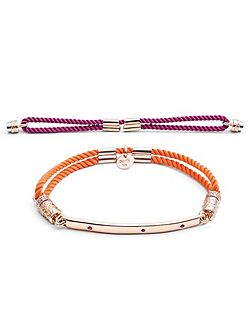 Rose gold interchangeable bracelet ruby