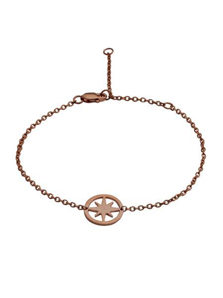 Chavin Rose gold circle star bracelet