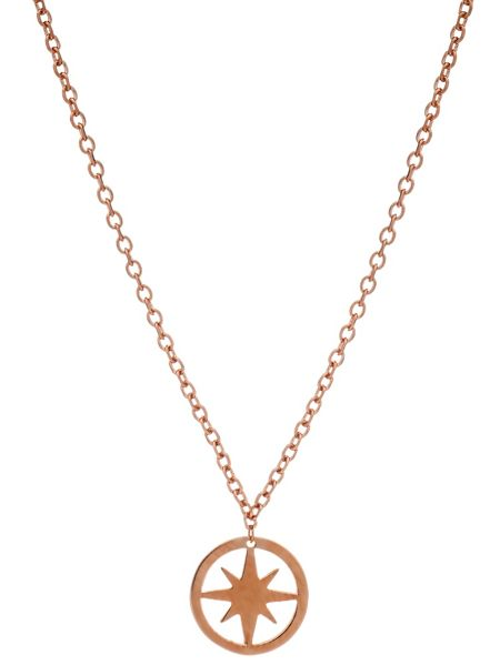 Chavin Rose gold circle star pendant